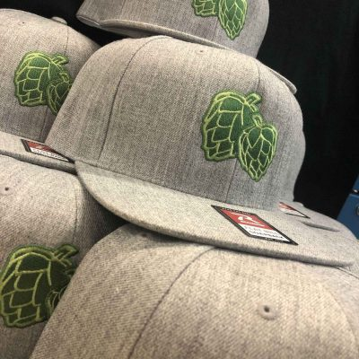Hat - Flatbill Heather Grey w/Hops