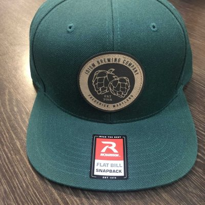 Hat - Flatbill Dark Green Tan Patch
